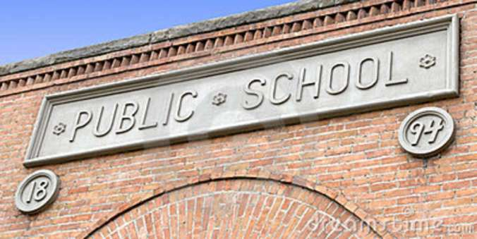 public-school-sign-brick-building-5310531