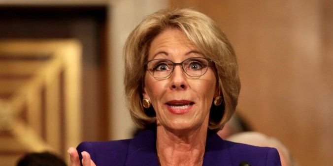 Betsy DeVos testifies before the Senate Health, Education and Labor Committee confirmation hearing