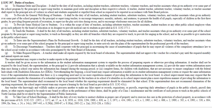 duties of teachers