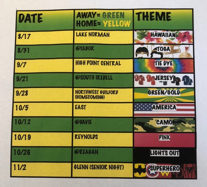 wacko schedule